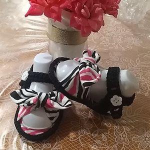 Baby Girl Crochet Sandals 0-2 moths